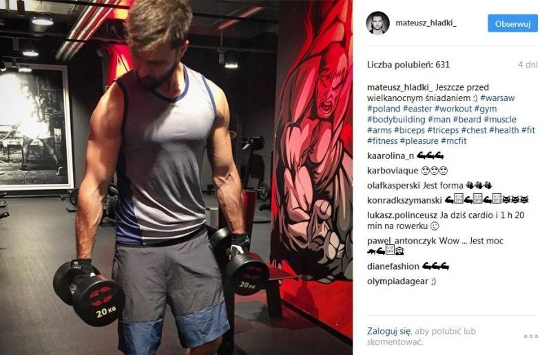 Mateusz Hładki na siłowni