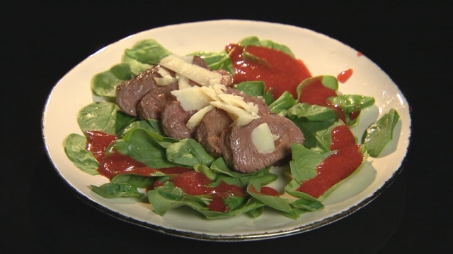 Wołowina - szpinak - truskawka
