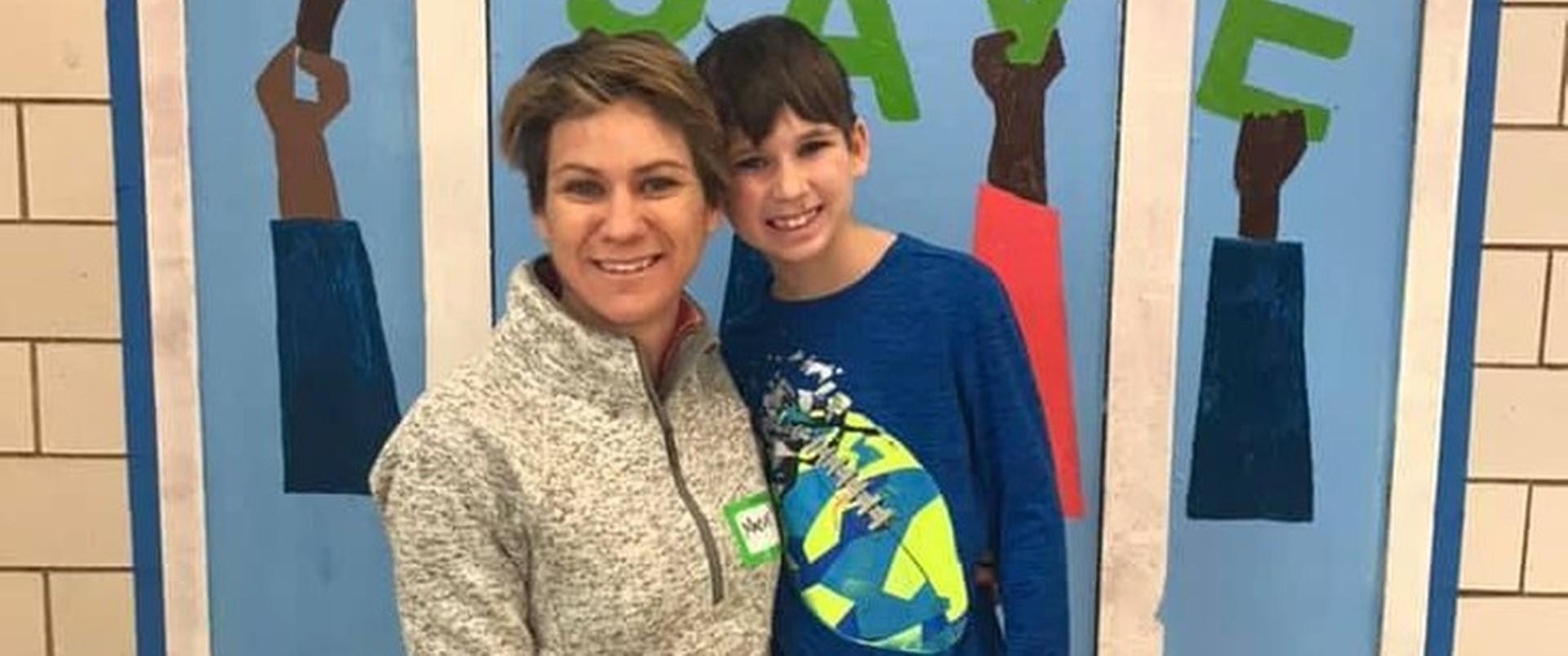 Maeve Kennedy i jej syn Gideon