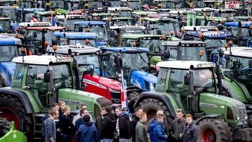 Wielkie protest rolników w Holandii. Konwoje traktorów paraliżują miasta