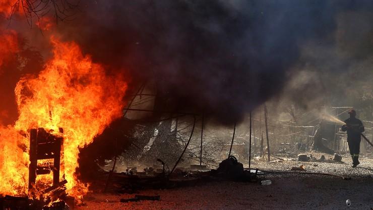 Spłonął obóz dla uchodźców w Grecji. Polska deklaruje pomoc
