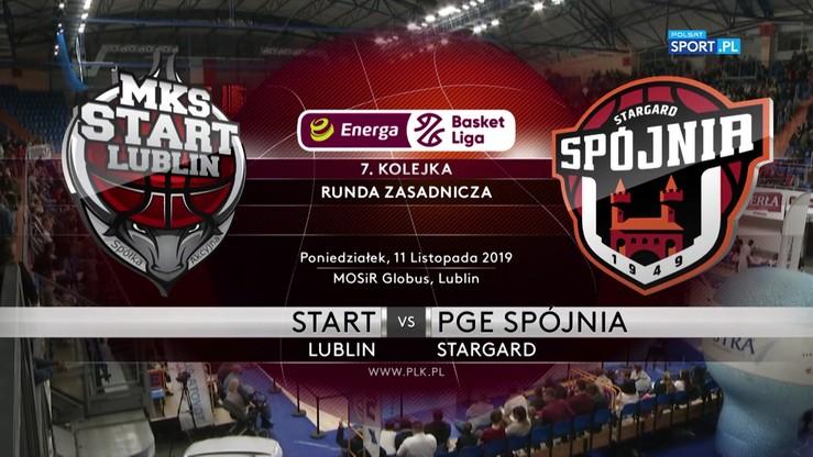 Start Lublin - PGE Spójnia Stargard 82:73. Skrót meczu