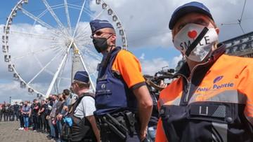 Protest policjantów w Belgii. Mają dość oskarżeń o rasizm