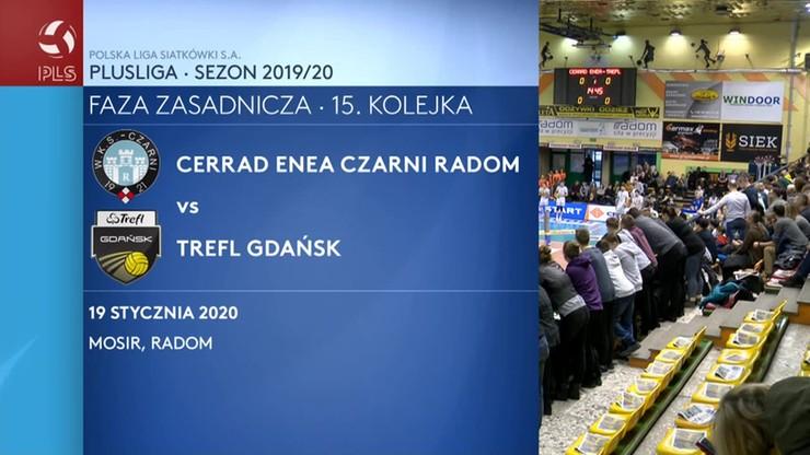 Cerrad Enea Czarni Radom - Trefl Gdańsk 3:2. Skrót meczu