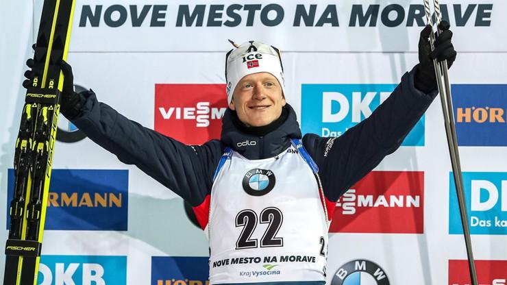 PŚ w biathlonie: Johannes Thingnes Boe wygrał sprint w Novym Mescie