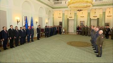 Nominacje generalskie. Prezydent wręczył akty mianowania