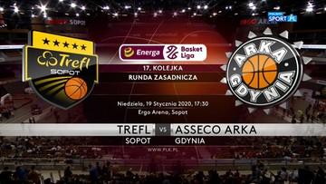 Trefl Sopot - Asseco Arka Gdynia 79:86. Skrót meczu