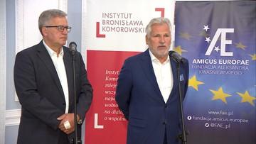 Komorowski i Kwaśniewski powiedzieli, na kogo zagłosują