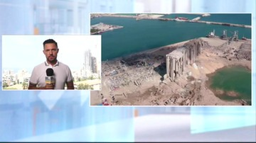 Polscy strażacy w Bejrucie. Rozpoczęli prace poszukiwawcze. Na miejscu jest reporter Polsat News