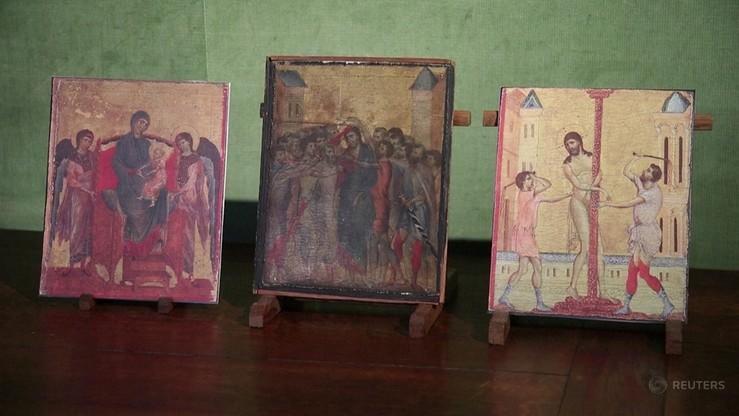 Obraz namalował włoski malarz Cimabue, prawdopodobnie około roku 1280