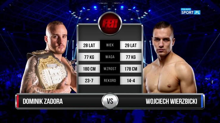 Dominik Zadora - Wojciech Wierzbicki. Skrót walki K-1