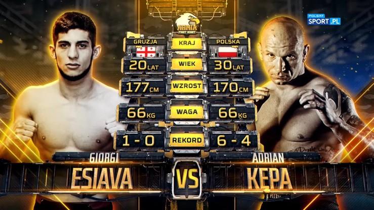 2019-10-05 Adrian Kępa - Giorgi Esiava. Skrót walki