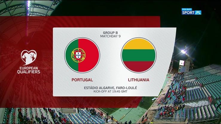Portugalia - Litwa 6:0. Skrót meczu
