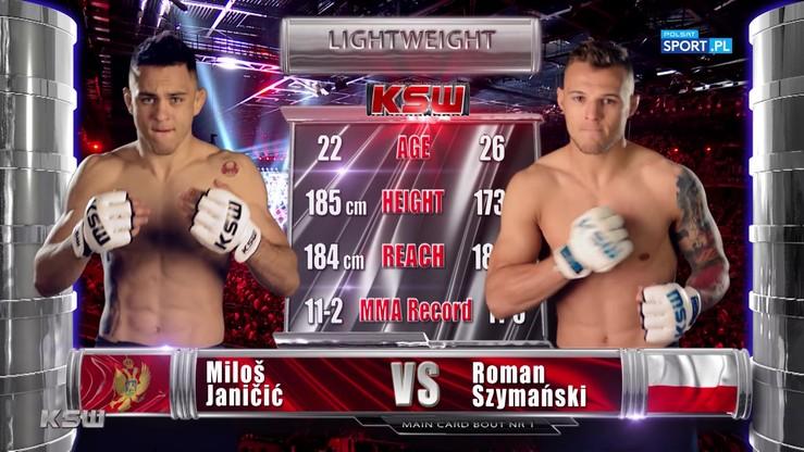 2019-11-09 Roman Szymański - Miloš Janičič. Skrót walki