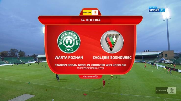 2019-10-19 Warta Poznań - Zagłębie Sosnowiec 2:3. Skrót meczu