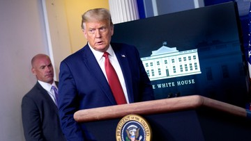 Strzelanina przed Białym Domem. Trump przerwał i wznowił konferencję prasową
