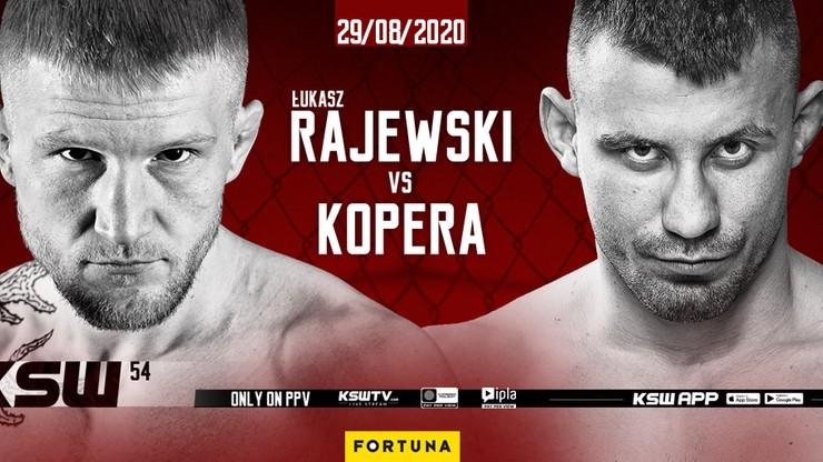 KSW 54: Łukasz Rajewski zmierzy się z Bartłomiejem Koperą