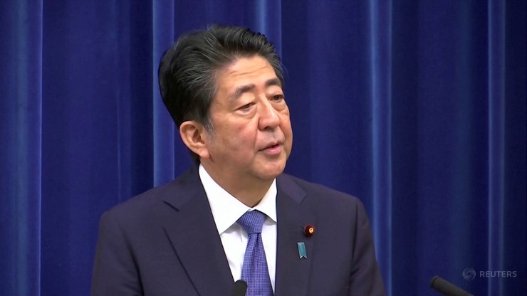 Premier Japonii Shinzo Abe zrezygnował z urzędu