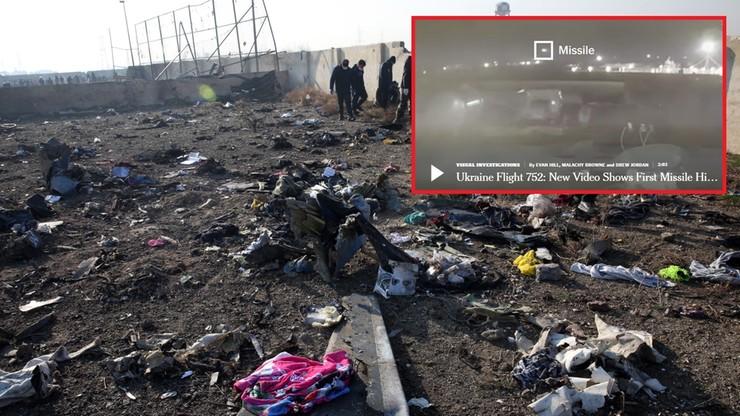 """""""Nie jeden, a dwa pociski uderzyły w ukraiński samolot"""". Nowe nagranie z zestrzelenia Boeinga"""