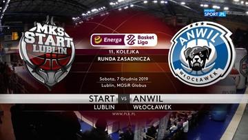 Start Lublin - Anwil Włocławek 96:71. Skrót meczu
