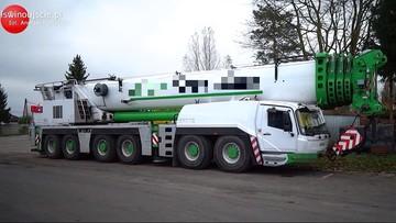 Dźwig, który zginął w Niemczech, pracował w terminalu gazowym LNG w Świnoujściu