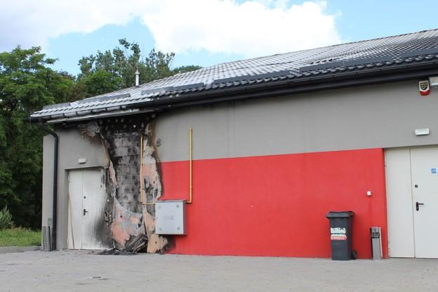 Kontener znajdował się bezpośrednio przy skrzynce z instalacją gazową