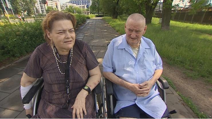 Straciła nogę, a mąż obie. Dramat pary z Warszawy