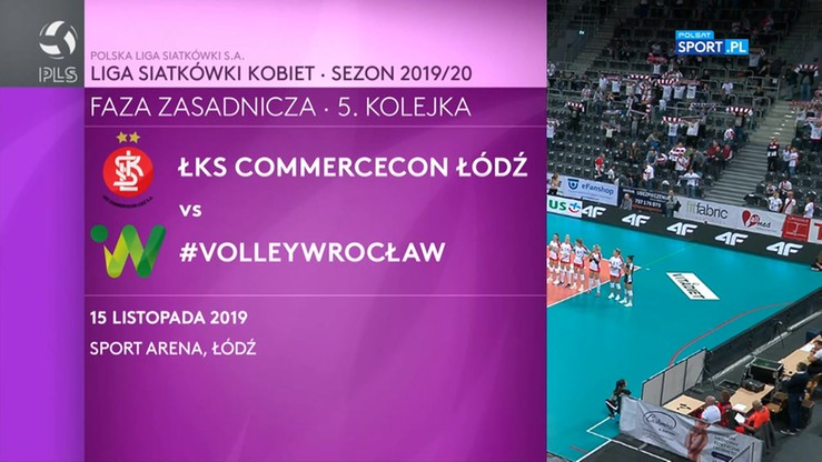 ŁKS Commercecon Łódź - #VolleyWrocław 3:1. Skrót meczu