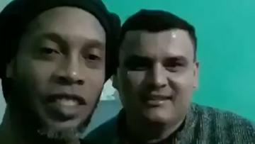 """Ronaldinho nagrał filmik w więzieniu. """"To mój kolega z drużyny"""" (WIDEO)"""