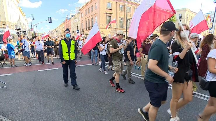 11 osób zatrzymanych po Marszu Powstania Warszawskiego