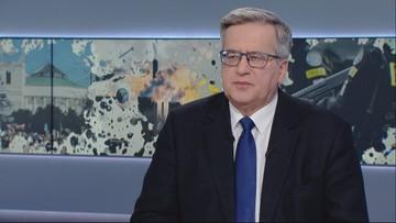 Komorowski: na miejscu prezydenta Dudy przeprosiłbym Polskę i Polaków