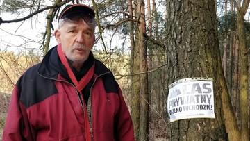 """Korwin-Mikke zaprasza do prywatnego lasu w Józefowie. """"Wolno wchodzić"""""""