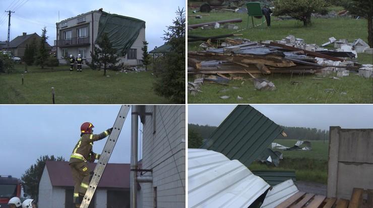 Zerwane dachy, powalone drzewa, brak prądu. Burze przeszły nad Polską