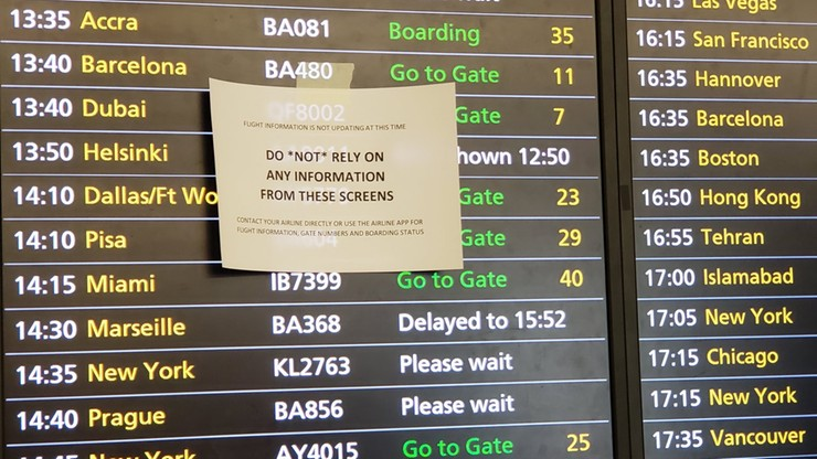 Wielka awaria na lotnisku Heathrow. Chaos, opóźnienia i nerwy pasażerów