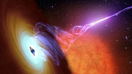 Oto obraz czarnej dziury, która emituje dżety z prędkością światła [FILM]