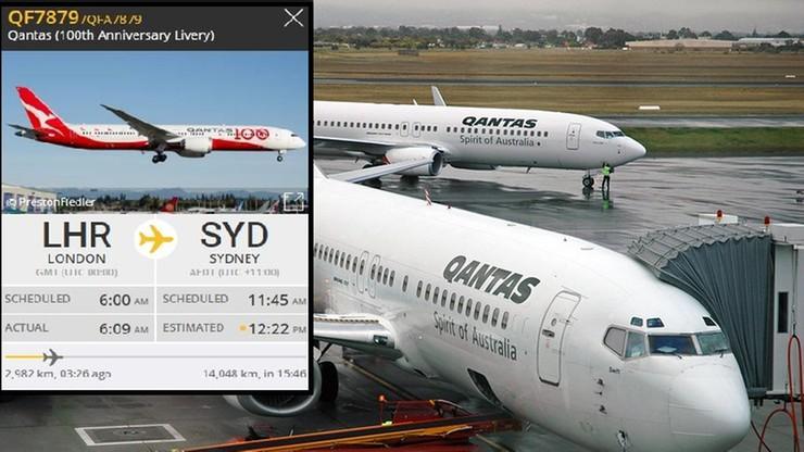 Trwa najdłuższy lot w historii. Boeing 787-9 Dreamliner leci z Londynu do Sydney