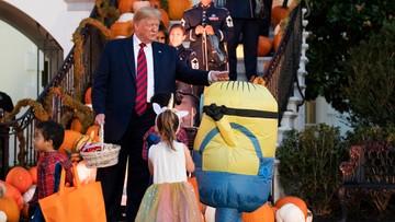 Minionki, jednorożce i smoki u Donalda Trumpa. Halloween w Białym Domu