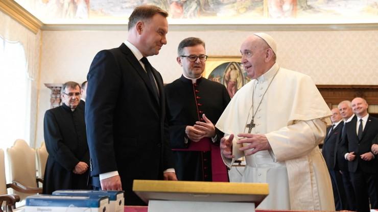 Prezydent na audiencji u papieża. Wiemy, o czym rozmawiali