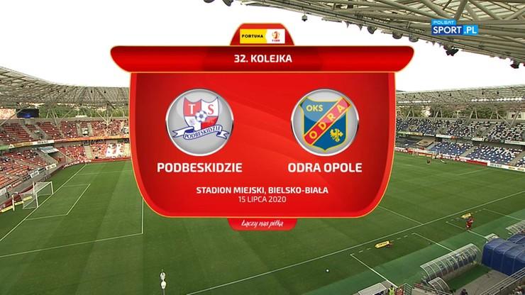 Fortuna 1 Liga: Podbeskidzie Bielsko-Biała - Odra Opole 4:3. Skrót meczu