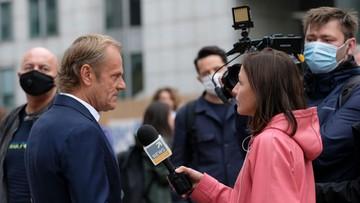 Tusk dla Polsat News: Morawiecki mówił mi, co sądzi o rządach PiS