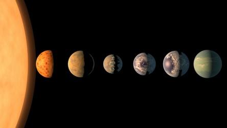 Siedem podobnych do Ziemi planet krąży tylko wokół jednej gwiazdy