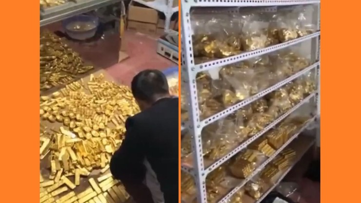 Antikorrupsjonstjenester gikk ned til kontoristens kjeller.  Og der ... 13 tonn gull og 34 milliarder euro [VIDEO]