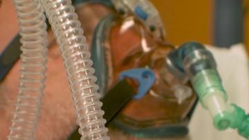 Rośnie liczba zajętych łóżek i pacjentów pod respiratorami