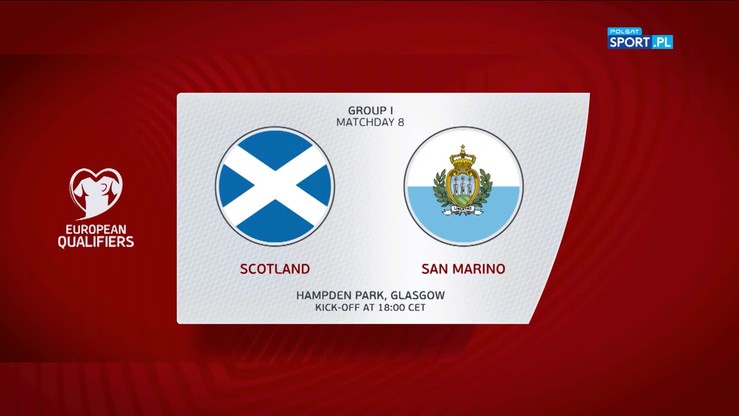 Szkocja - San Marino 6:0. Skrót meczu