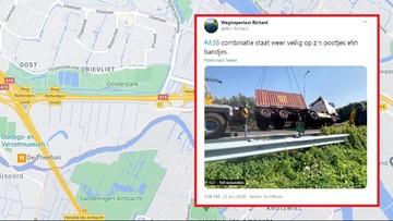 Polak rozbił ciężarówkę w Holandii. Uwalniano go z kabiny przez dwie godziny