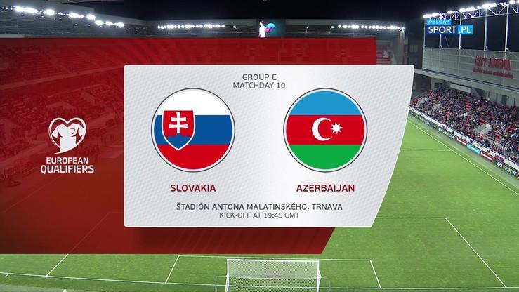 Słowacja - Azerbejdżan 2:0. Skrót meczu