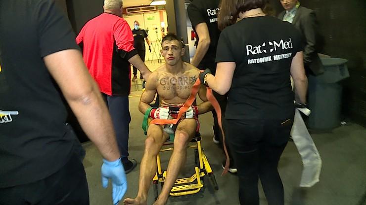 KSW 56: Znokautowany Rajewski i Grzebyk ze złamaną nogą. Tak wyglądali tuż po przegranych walkach