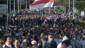2020-09-20 Wielotysięczne demonstracje na Białorusi. Są kolejni zatrzymani