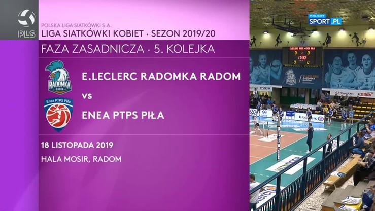 E.Leclerc Radomka Radom - Enea PTPS Piła 0:3. Skrót meczu