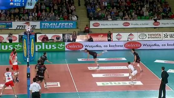 Delecta Bydgoszcz - Asseco Resovia Rzeszów skrót set 4, PlusLiga